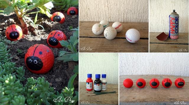 How To Make Golf Ball Ladybugs