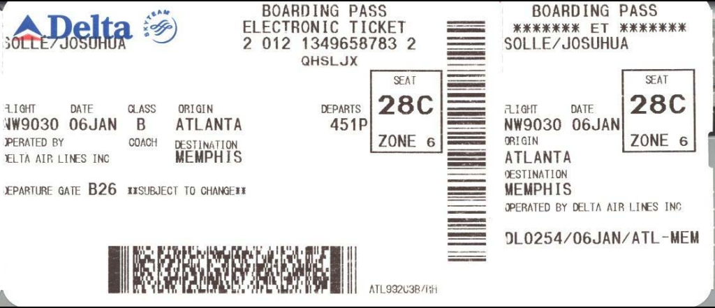 why you should never throw your boarding pass away not even after your flight the reason i. Black Bedroom Furniture Sets. Home Design Ideas