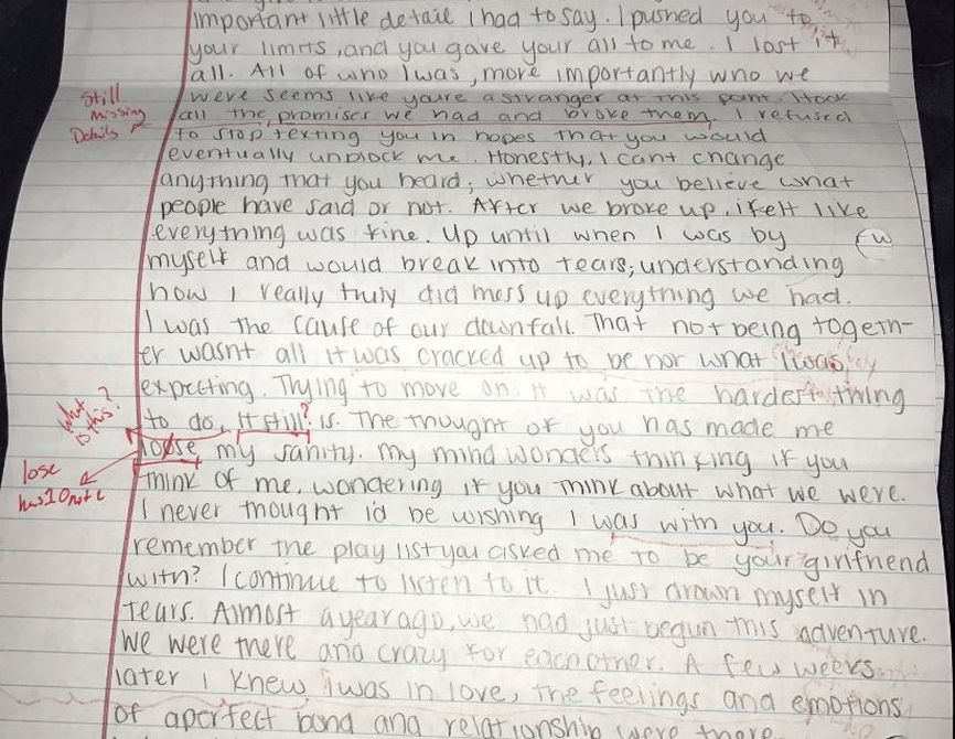 Cheating ExGirlfriend Sends Apology Letter Guy Sends It Back
